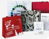 Bolsas impresas personalizadas <br><small>Bolsas de papel ecológicas, bioplásticas ecológicas compostables, de plástico reciclado, tela (no tejido) reutilizables, de algodón, guardatrajes y otros productos no tejido</small>
