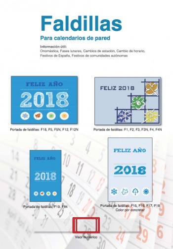 Calendaris de faldilles