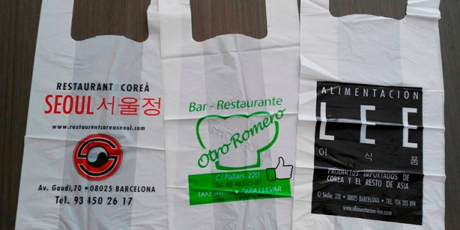 <h1>Bolsas de plástico tipo camiseta</h1>