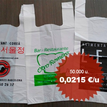 Bosses de plàstic personalitzades tipus samarreta