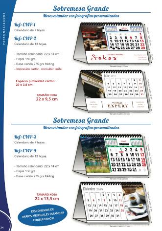 Calendaris personalitzats de sobretaula