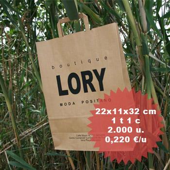Bolsas de papel impresas personalizadas ecológicas