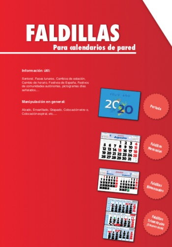 Faldilles per a calendaris de paret