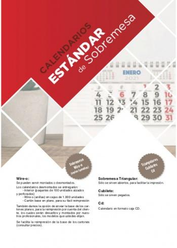 Calendaris estàndards de sobretaula
