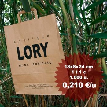 Bolsas de papel ecológicas impresas personalizadas